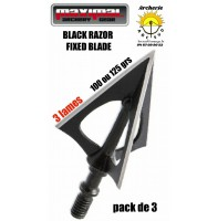 Maximal lame black razor fixed blade (pack de 3)