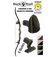 Buck trail carquois d'arc chasse deluxe bi couleurs