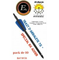 "Ek archery traits 7.5"" pistolet arbalète cobra r9 adder ref 9f58 (pack de 10)"