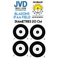 Jvd blasons ifaa field diamètres 20 cm (par 50)