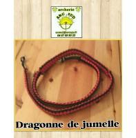 dragonne de jumelles noir rouge
