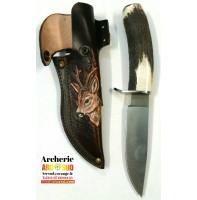 couteau biche avec etui