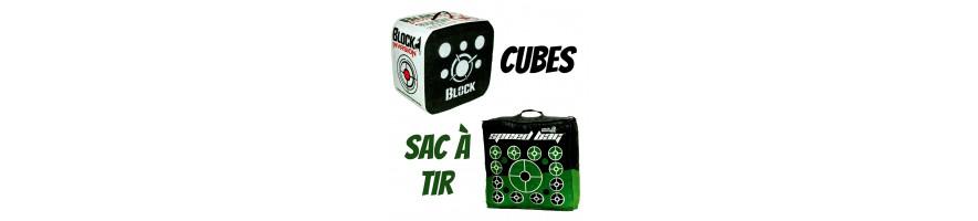 cubes et sac à tir