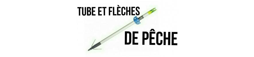 tubes et flèches de pêche