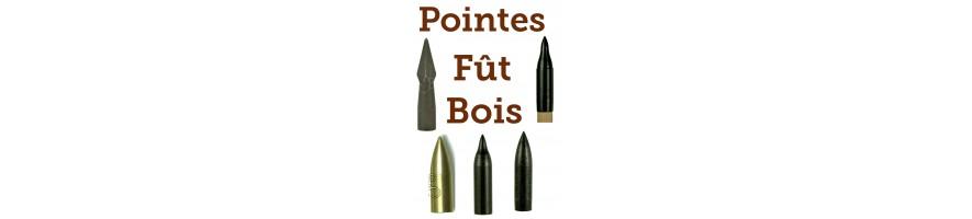 pointes tubes bois